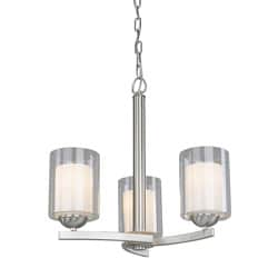 Woodbridge Lighting Cosmo 3-light Satin Nickel Chandelier