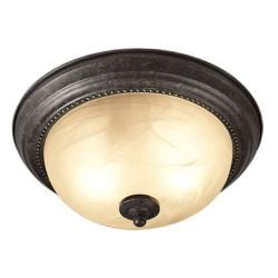 Woodbridge Lighting Calais 2-light Burnish Bronze Flush Mount