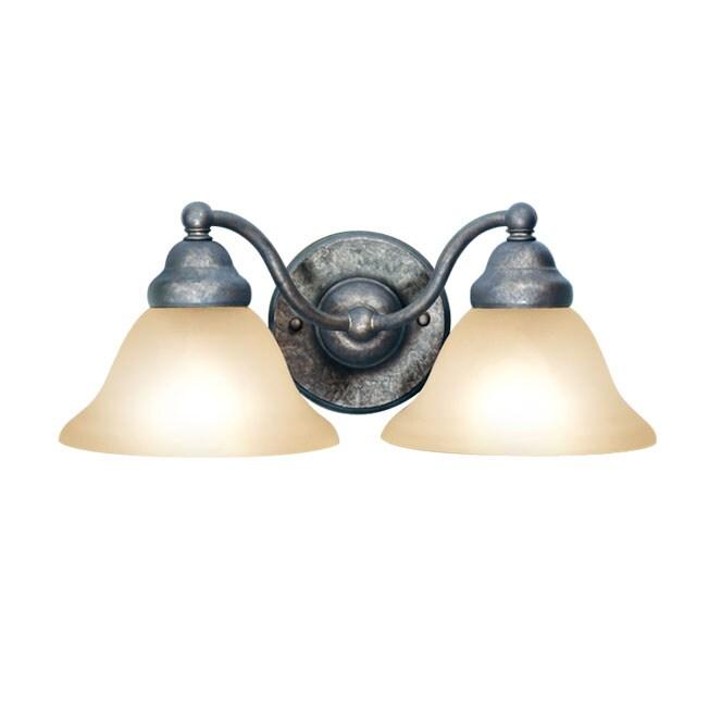 Woodbridge Lighting Anson 2-light Greystone Bath Sconce