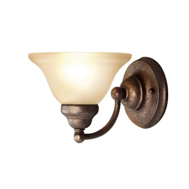 Woodbridge Lighting Anson 1-light Marbled Bronze Bath Sconce