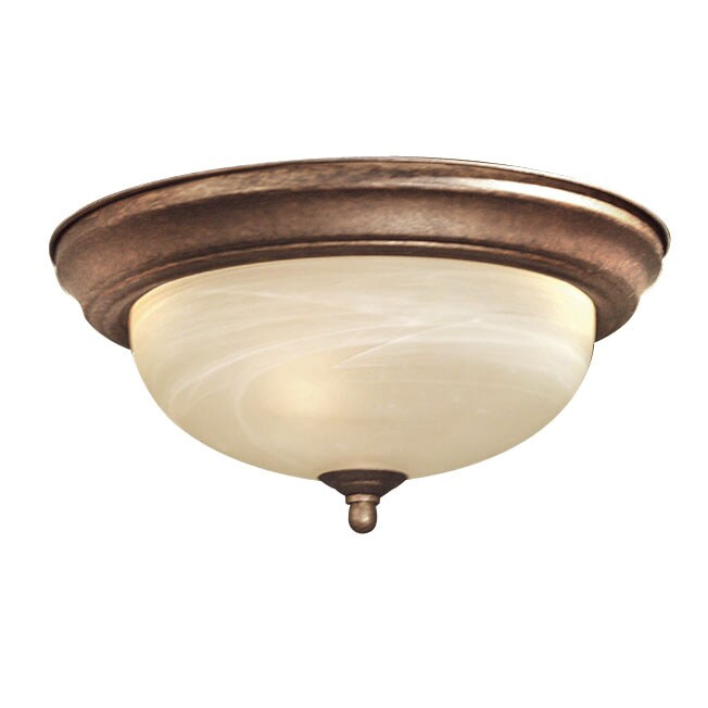 Woodbridge Lighting Anson 1-light Marbled Bronze Flush Mount (Pack of 4)