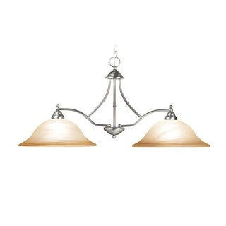 Woodbridge Lighting Anson 2-light Satin Nickel Island Light Fixture