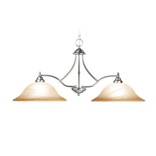 Woodbridge Lighting Anson 2-light Satin Nickel Island Light Fixture