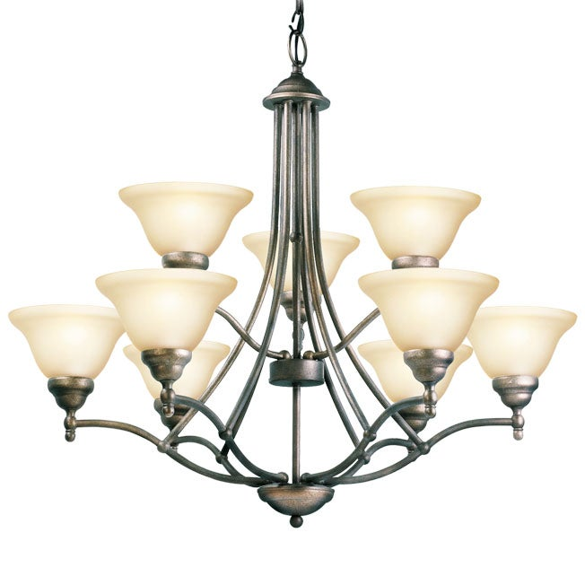 Woodbridge Lighting Anson 9-light Greystone Chandelier