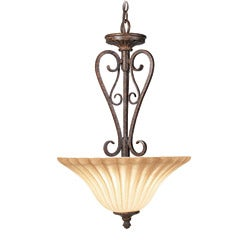Woodbridge Lighting Avondale 2-light Rustic Iron Pendant