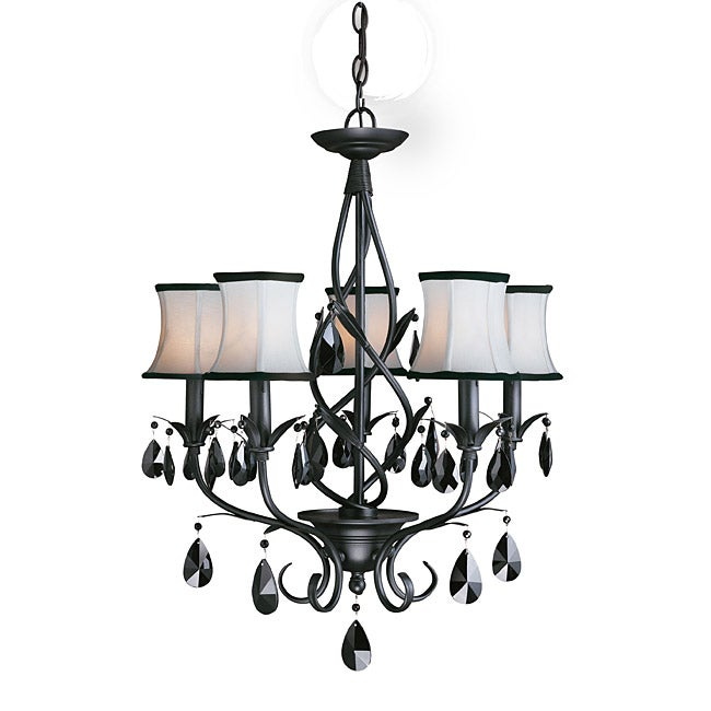 Woodbridge Lighting Avigneau 5 light Black Chandelier