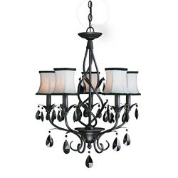 Woodbridge Lighting Avigneau 5-light Black Chandelier