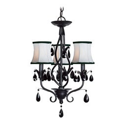 Woodbridge Lighting Avigneau 3-light Black Chandelier