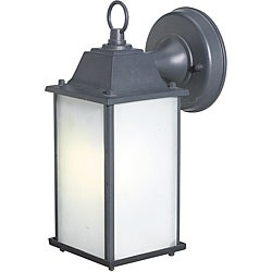 Woodbridge Lighting Basic One-Light Black Outdoor Wall Light with Frosted-Glass Shade