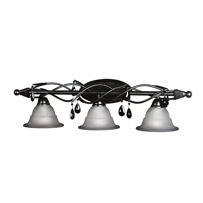 Woodbridge Lighting Avigneau 3-light Black Bath Bar