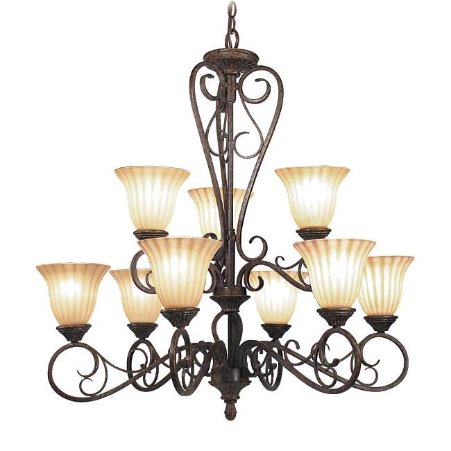 Woodbridge Lighting Avondale 9-light Rustic Iron Chandelier