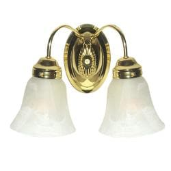 Woodbridge Lighting Ridgemont 2-light Polished Brass Bath Sconce