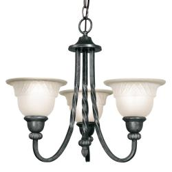 Woodbridge Lighting Amelia 3-light Charcoal Chandelier