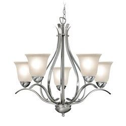 Woodbridge Lighting Beaconsfield 5-light Satin Nickel Chandelier