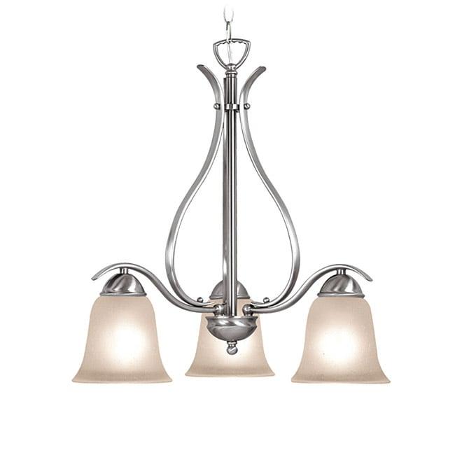 Woodbridge Lighting Beaconsfield 3-light Satin Nickel Chandelier