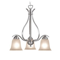 Woodbridge Lighting Beaconsfield 3-light Satin Nickel Chandelier