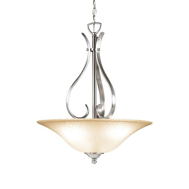 Woodbridge Lighting Beaconsfield 3-light Satin Nickel Pendant