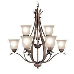 Woodbridge Lighting Beaconsfield 9-light Marbled Bronze Chandelier