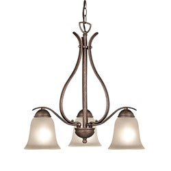 Woodbridge Lighting Beaconsfield 3-light Marbled Bronze Chandelier