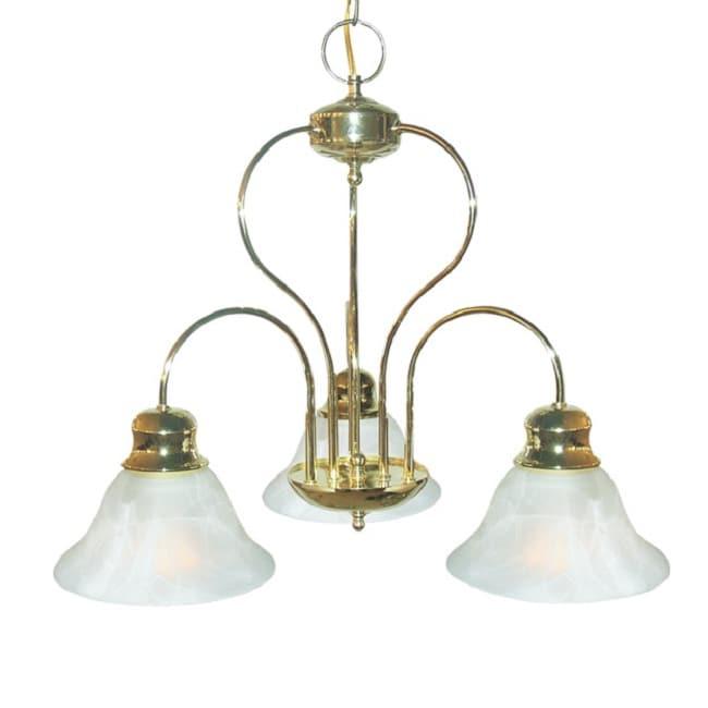 Woodbridge Lighting Basic 3-light Polished Brass Chandelier