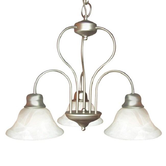 Woodbridge Lighting Basic 3-light Satin Nickel Chandelier