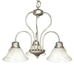 Woodbridge Lighting Basic 3-light Satin Nickel Chandelier