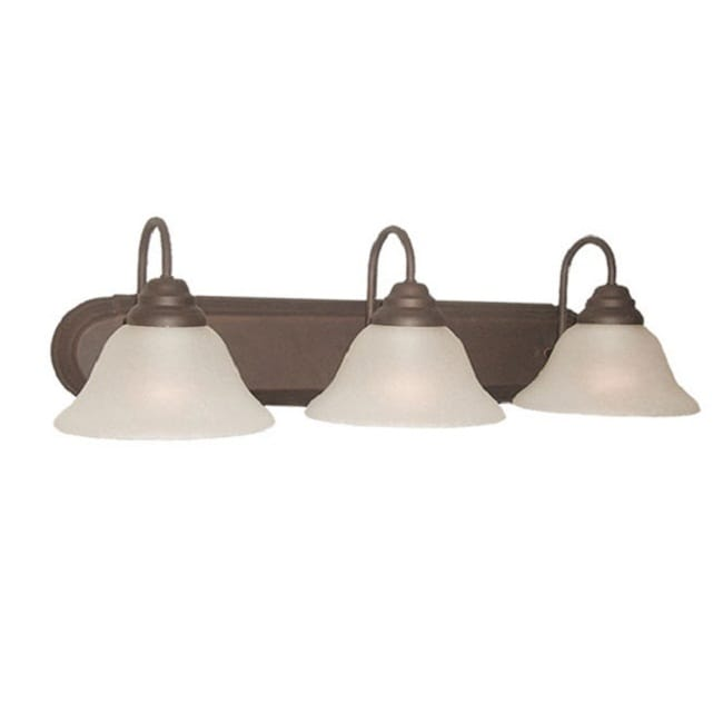 Woodbridge Lighting Basic 3-light Marbled Bronze Bath Bar