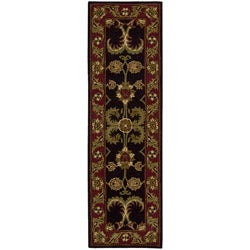 Nourison Hand-tufted Caspian Black Wool Rug (2'3 x 7'6)
