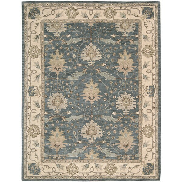 Nourison Hand-tufted Caspian Blue Wool Rug (5' x 8')