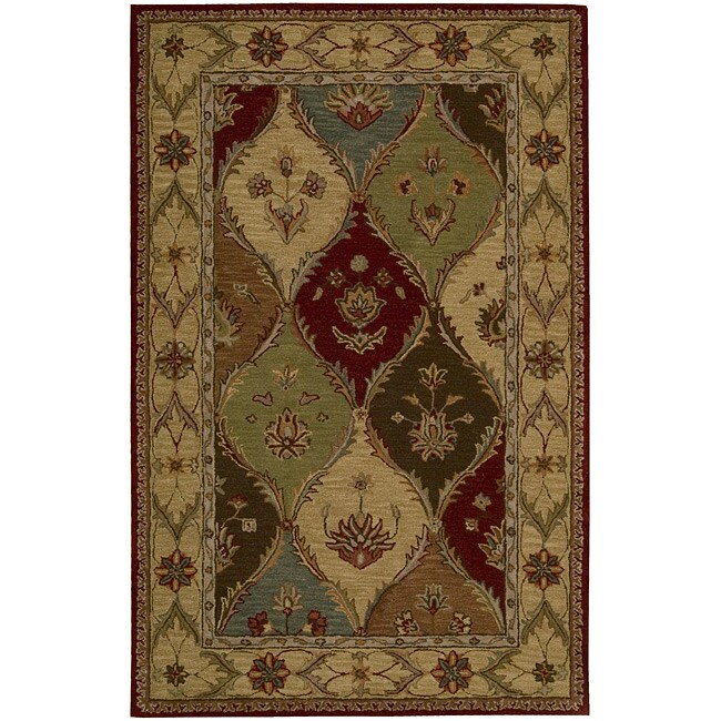 Nourison Hand-tufted Caspian Multicolor Wool Rug (3'6 x 5'6)