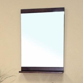Vollie Medium Walnut Bathroom Vanity Mirror