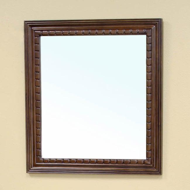Cresleigh Medium Walnut Bathroom Vanity Mirror