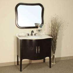 Pallazo II Dark Walnut Bathroom Vanity Mirror