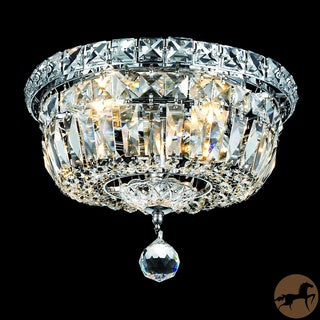 Christopher Knight Home Crystal Chandelier Flush Mount Light