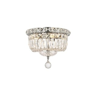 Somette Crystal Chandelier Flush Mount Light