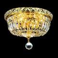Somette Crystal Chandelier Gold Flush Mount Light