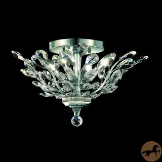 Christopher Knight Home Crystal 4-light Chrome Chandelier Flush Mount