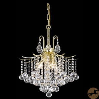 Christopher Knight Home Crystal 6-light Gold Chandelier
