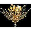 Christopher Knight Home Crystal 4-light Gold Chandelier Flush Mount