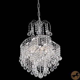 Christopher Knight Home Crystal Four-Light Chrome Metal Chandelier