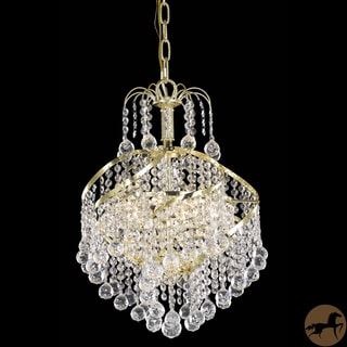 Christopher Knight Home Crystal 3-light Gold Chandelier