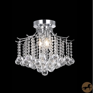 Christopher Knight Home Crystal 3-light Chrome Chandelier Flush Mount