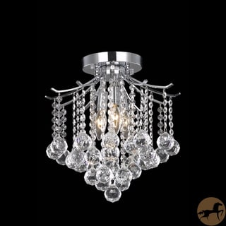 Christopher Knight Home Crystal 3-light Chrome Chandelier
