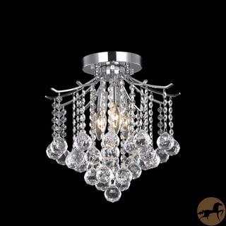 Christopher Knight Home Crystal 3-light Chrome Chandelier