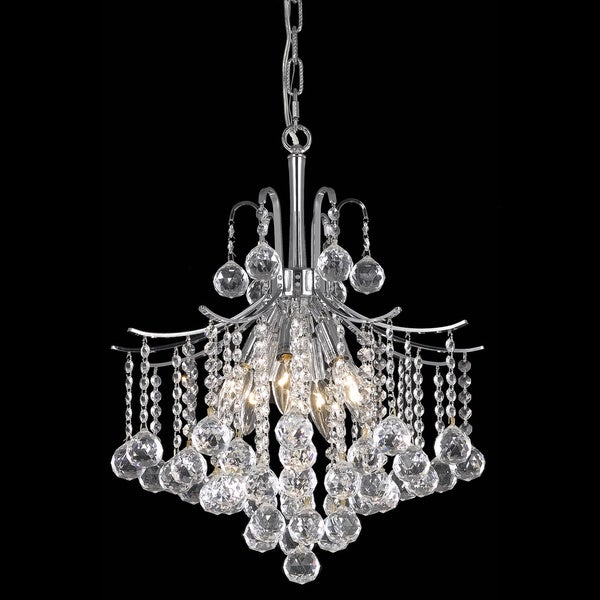 Somette Crystal 6-light Chrome Chandelier