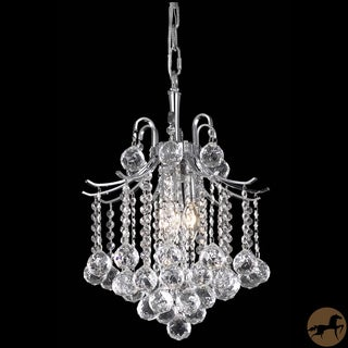 "17"" Christopher Knight Home Crystal 3-light Chrome Chandelier"