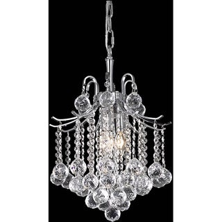 "Somette 17"" Crystal 3-light Chrome Chandelier"