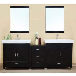 Visconti Black Bridge Bathroom Cabinet