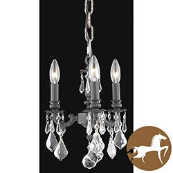 Christopher Knight Home Crystal 3-light Dark Bronze Finish Chandelier