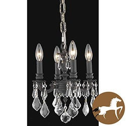 Christopher Knight Home Crystal 4-light Dark Bronze Finish Chandelier